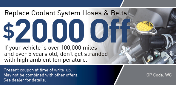 Coolant System Special offer Coupon, Richardson, TX